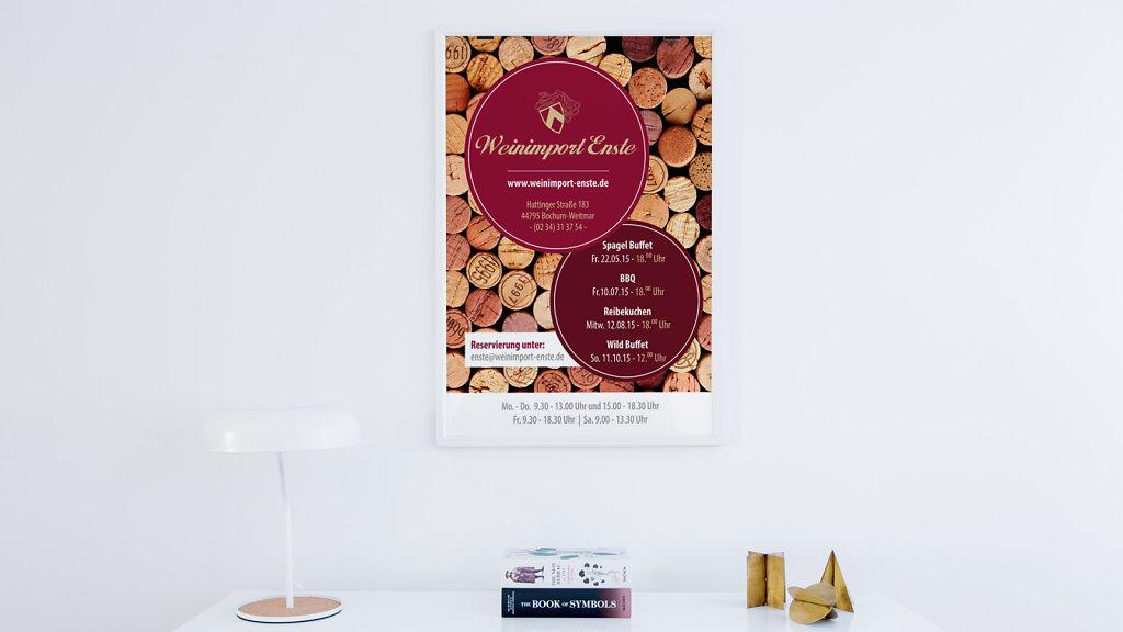 Weinimport Enste - Poster Design