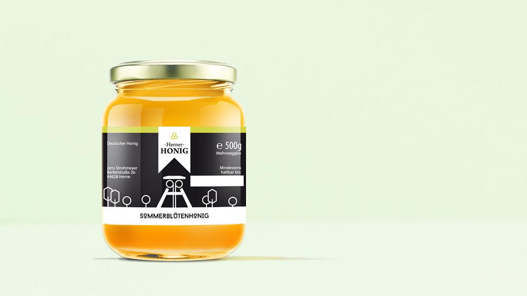 Herner Honig - Etikett